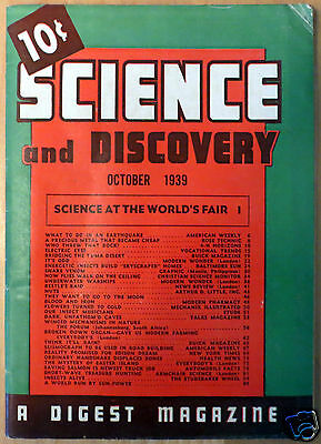 October 1939 Science and Discovery Magazine