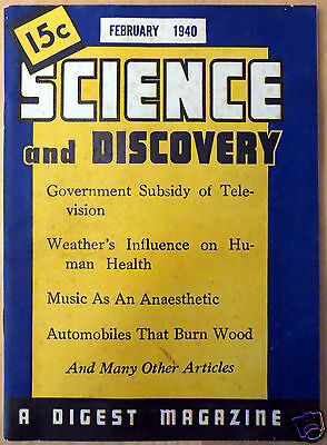 February 1940 Science and Discovery Magazine