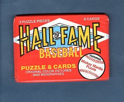 (2) Factory-Sealed 1983 Donruss HALL OF FAME HEROES Packs (8+ cards each) FUN!