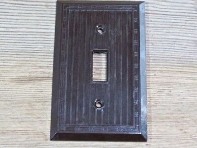 single Switch Plate brown Bakelite vintage NEW OLD STOCK NOS 1900's Bryant