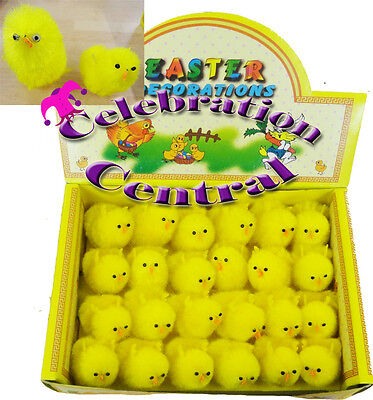 EXTRA LARGE 6CMx24pcs AND 9CMx18pcs EASTER CHICKS YELLOW CHENILLE ARTS & CRAFTS