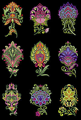 Jumbo Wild Flowers Machine Embroidery Designs CD 5x7 for Brother, Janome etc