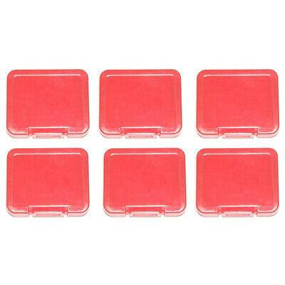6 x Premium Red Plastic Storage Case Holder For SD SDHC Memory Card Micro SD