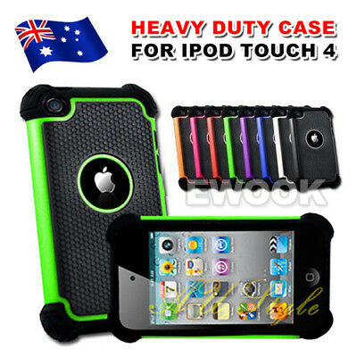 AU Heavy Duty Shock Proof Series Case Colors For Apple iPod Touch 4 4th Gen