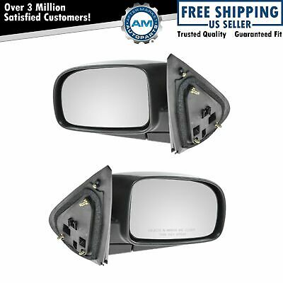 Black Textured Power Side View Mirrors Left /& Right Pair Set for 07-09 Santa Fe