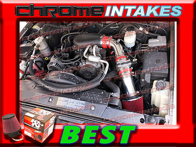 K/&N+BLUE RED 98-03 CHEVY S10 ZR2//XTREME//HOMBRE//SONOMA 2.2L COLD AIR INTAKE 3/""
