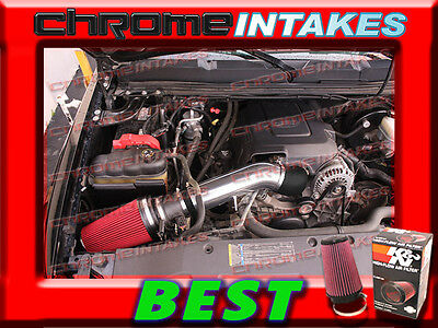 99-07 SILVERADO//SIERRA//TAHOE//YUKON//AVALANCHE COLD AIR INTAKE KIT+CHF Black Red