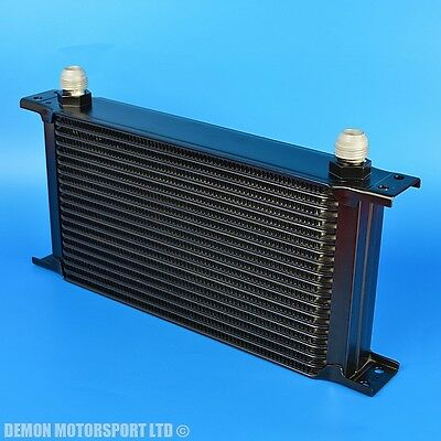 19 Row Oil Cooler Black AN10 -10 Male Alloy For Cafe Racer Retro Chop Motorbike