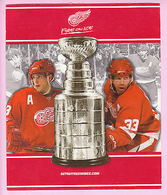 2010 Detroit Red Wings Stanley Cup FINAL Round SUITE Ticket RARE Cover Page!!!