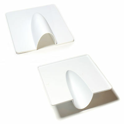 Qty 2 -White Brick Buster Plate- Cable Wall Entry Tidy Cover-Satellite/Coaxial