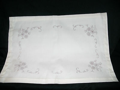 PRE PRINTED  STAMPED TRACED EMBROIDERY TABLECLOTH TRAY CLOTH ( 4 Designs)