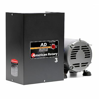 Rotary Phase Converter AD3 - 3 HP Digital Controls Heavy Duty CNC Made in USA