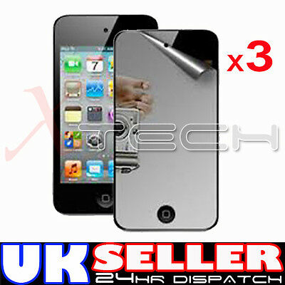 3 x MIRROR Reflective LCD Screen Protector Guards for Apple iPod Touch 4 4th Gen
