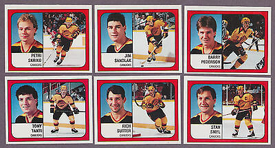 1988-89 Panini NHL Hockey Sticker Petri Skriko #140 Vancouver Canucks