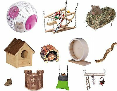 Trixie Hamster Gerbil Toys Ladder Bridge House Bed Choice Of Toys Chews Treats