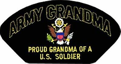 Proud Army Grandma Grandmother  Of A U.s. Soldier Embroidered Military  Patch