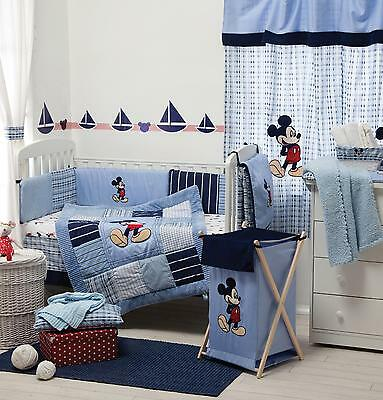 4efd4f2e7a 4 PIECE DISNEY Mickey Mouse Baby Crib Bedding Cot Set Rrp  250.00 ...