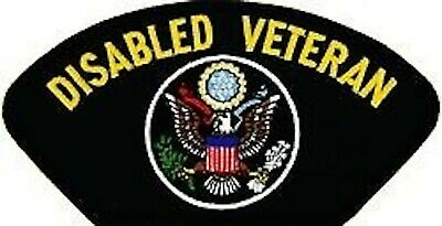 DISABLED VETERAN  EMBROIDERED MILITARY LOGO  PATCH