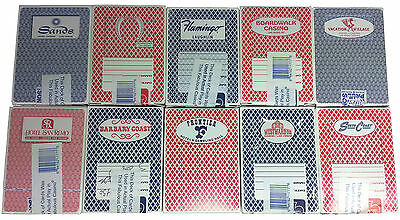 Casino Playing Cards - 10 Used Decks From 10 Closed Nv Casinos - Free Shipping *