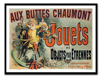 Jouets Jules Cheret As Seen On Friends Vintage Art Poster Print New