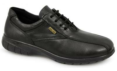 Cotswold SALFORD Womens Ladies Waterproof Lace Up Leather Shoes Black Size 3-8