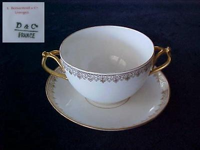 D&C Limoges 2-Handled Bullion Cup & Underplate