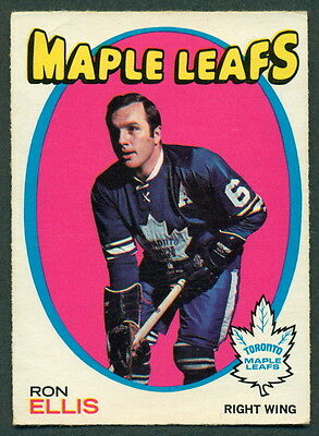 1971 72 Opc O Pee Chee Hockey #113 Ron Ellis Ex Cond Toronto Maple Leafs Card