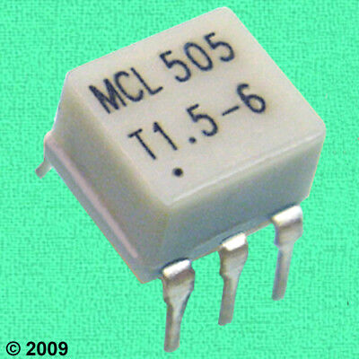 (5) HF / VHF Interstage RF TRANSFORMERS < LOW LOSS: 0.2 dB @ 10 MHz, p/n T1.5-6