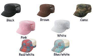 New,,mesh, military cadet style cap/hat choose your color