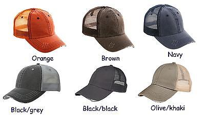 New, distressed,  trucker style, mesh, unstructured, cap/hat, choose your color