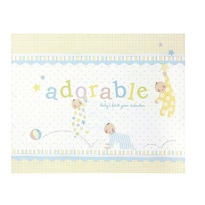 C.R.Gibson PAJAMA BABIES Adorable Baby's First Year Calendar NEW!!