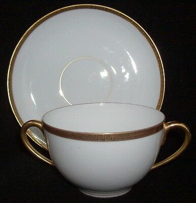 KPM Made In Germany Venus China Silesia #26370 Bouillon Cup & Saucer Set 2 1/4""