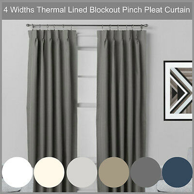 Villa: Shantung 100% Blockout Pinch Pleat Curtains 100% Blackout Room Darkening