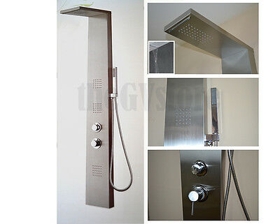 Stainless steel body massage jets & thermostatic control SPA shower panel system