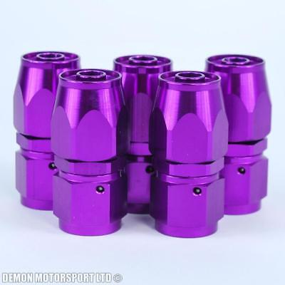 AN8 -8 8AN Straight Hose Fitting (5 Pack) JIC For Braided Hose Purple New