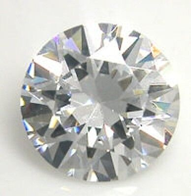 AAAAA Rated Round Faceted Glacier White Cubic Zirconia (1mm-17mm)