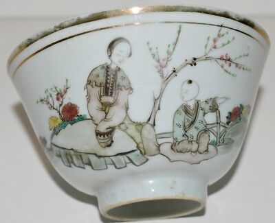 PETIT BOL PORCELAINE DE CHINE XXe FAMILLE ROSE COLLECTION VITRINE DECO TABLE