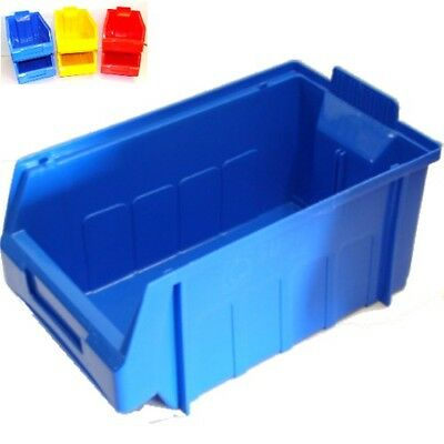 PLASTIC STACKING PICKING STORAGE BINS SIZE 4 LARGE 290mmL x178mmW x 143mmH