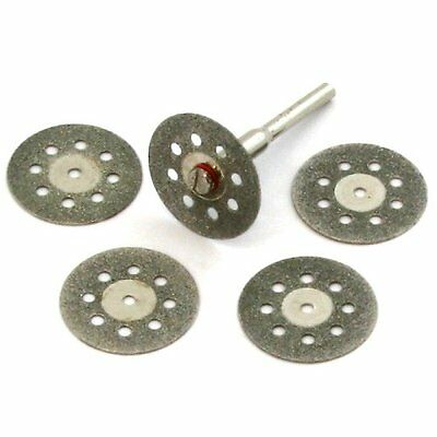 5 pc DIAMOND CUT-OFF WHEELS  DISC DISK Glass Rock Lapidary SAW fits Dremel