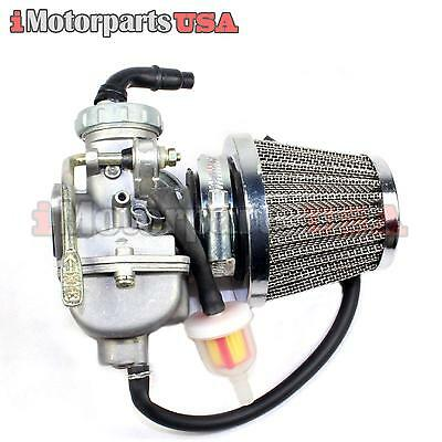 Honda Xr80 Xr80R Complete Carburetor Assembly Carb W/ Air & Fuel Filter Set New