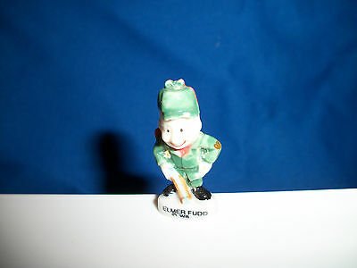 ELMER FUDD w/RIFLE Mini Figurine LOONEY TUNES French FEVES Porcelain WARNER BROS