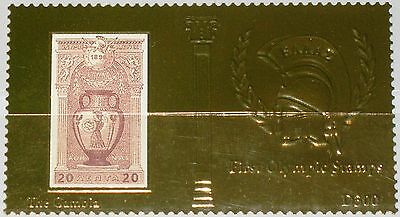 GAMBIA 2012 1st Olympic Games Stamps Gold Olympics 1896 Athens Sport D300 MNH 5