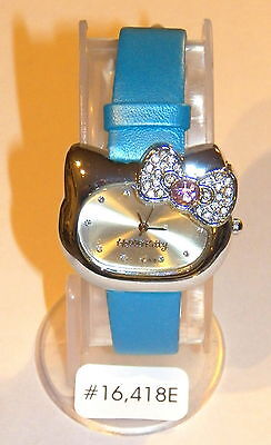 #16418E Hello Kitty Sanrio Licensed Blue Face & Band Ladies/Girls Watch