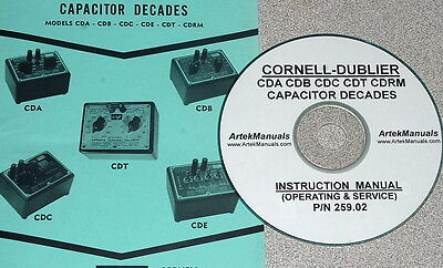Cornell-Dubilier CDA CDB CDC CDE CDT & CDRM Decades Instruction ManuaL