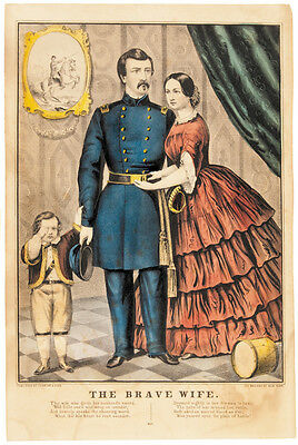 Civil War Currier + Ives Hand-Colored Lithograph