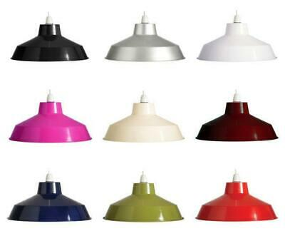 "14"" Retro Metal Coolie Lampshade Ceiling Light Pendant Shade Fitting"