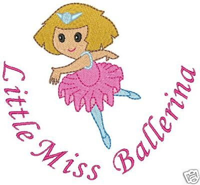 Little Miss Ballerina Ballet Machine Embroidery Designs