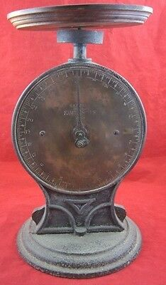 Antique SCALE WEIGHT Measure Salter's Improved Family Rustic Mechanical Cast