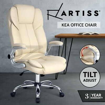Artiss Executive Premium Office Chairs PU Leather Retractable Armrests Seating