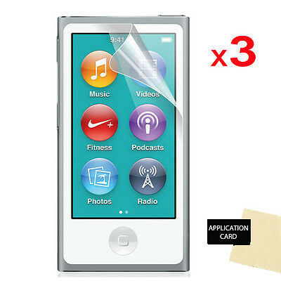 3 Pack of LCD Screen Protector Guards for Apple iPod Nano 7 7G 7th Gen
